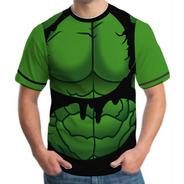 Camiseta Camisa Masculina Roupas Herois Hulk Vingadores 3d