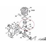 Set Piston Para Stihl Fs-220 (desmalezadora)