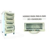 Horno Cuatro Camaras 4 Bandejas A Gas Panaderia Y Pizza