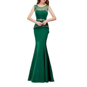 Vestido Elegante Formal De Fiesta Corte Sirena