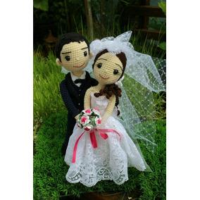 Muñecos Tejidos A Mano Recién Casados, Matrimonio