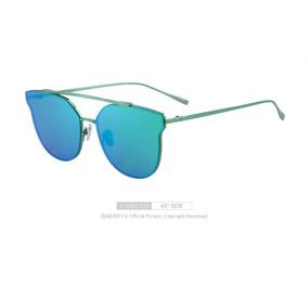 Óculos Espelhado Feminino Olho De Gato Gatinho Marry´s Verde 5355df06f4