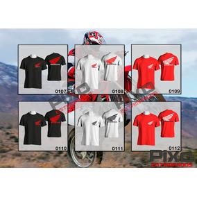 Remeras Estampadas Honda - Motocross + Calco De Regalo