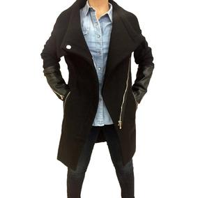 Abrigo Negro Para Dama Contemporáneo Bershka Original