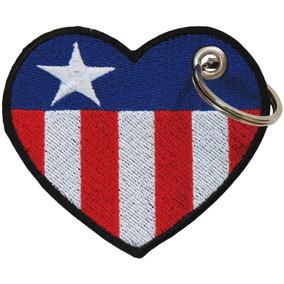 Chaveiro Bandeira Texas Coração Estados Unidos Eua Dv80614c
