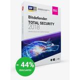 Bit Defender Total Security 5 Años + Vpn Ilimitado Gratis