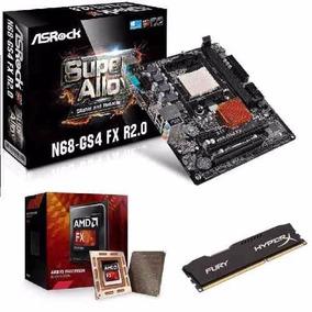 Kit Placa Mãe Am3+ Asrock N68-gs4 2.0 + Fx-6300 + 8 Gb 1600