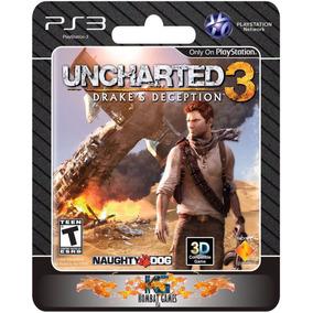 Uncharted 3 Drakes Deception + Todas Dlc [midia Digital Ps3]