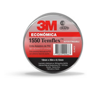 Cinta Aisladora 3m Temflex 1550 Negra 18mm X 20m Pack X10 R