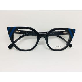 Oculos De Grau Adriane Galisteu Preto E Azul Acetato -fe202 87915868f8