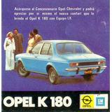 Manual Opel K 180