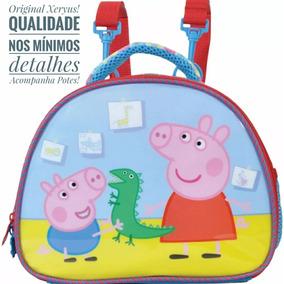 Lancheira Térmica Escolar Peppa Pig Original Xeryus