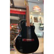 Guitarra Electro Criolla Sin Boca C/ Eq Afinador Funda Ofert