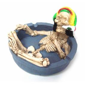 Cinzeiro Bob Marley - Caveira Resina