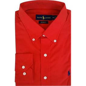 Camisa Social Polo Ralph Lauren Masculina Vermelha