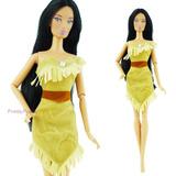 Vestidos / Roupinhas Boneca Pocahontas Barbie Princesas E Ou