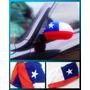 Juego De 2 Banderas Chilenas Cubre Espejo Para Auto