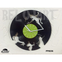 Original Reloj De Pared En Disco De Vinil - Peter Pan