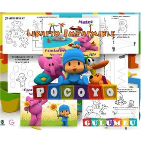 Kit Imprimible Libritos Para Colorear Actividades Pocoyo