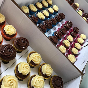 Caixa Transporte 36 Mini Cupcakes - Pct C/ 25 Un