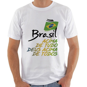 Bolsonaro Camiseta Camisa Brasil Acima De Tudo Deus Acima De