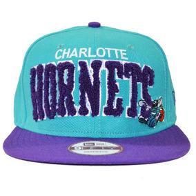 Boné Charlotte Hornets New Era Snapback Aba Reta Ajustável - Bonés ... 33cd4609459