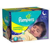 Pañales Pampers Overnight, Talla 6, 44 Pzs