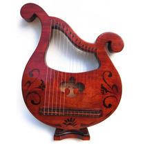 Lira Grega Artesanal Harpa Clássica Citara Luthier 15 Cordas