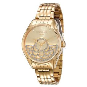 Relógio Seculus Feminino Moderno 28652lpsvda1 2 Anos De G