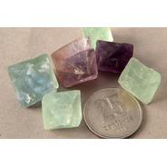 Piedra Mineral Fluorita Octaédricas Medianas Reiki