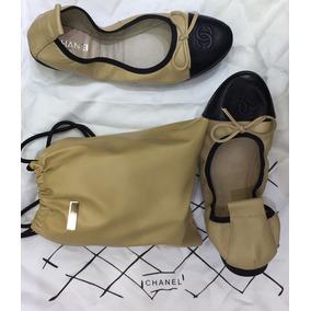 Sapatilha Sapato Calçado Bailarina Chanel Feminina Original.