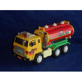 Caminhão Miniatura 88 Power Oil Truck Movido A Pilhas