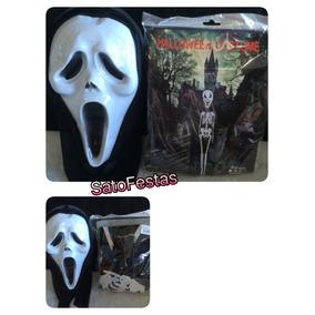 Mascara Pânico + Tunica Festa Fantasia Halloween