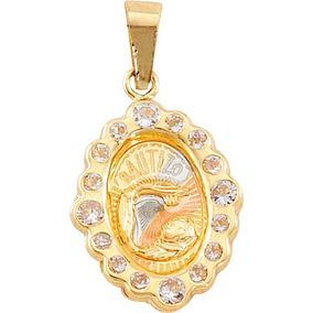 Medalla De Bautizo Y Cadena Oro 10k Envío Gratis!!!
