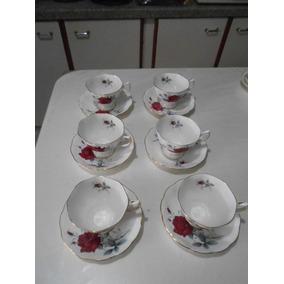 Xicaras Porcelana Royal Albert. Boné China England Sweet Rom