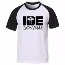 Camiseta Gospel Evangélica Cristã Ide Jovens Camisa