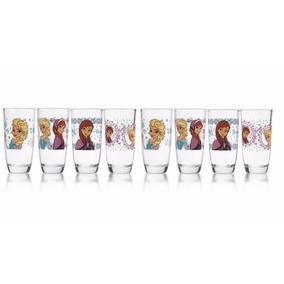 Juego 8 Vasos Frozen Vidrio Grueso Crisa