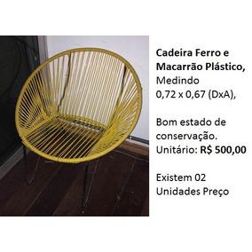 Cadeira Ferro E Macarrão Plástico