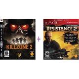 Killzone 2 + Resistance 2 Ps3 Usado Fisico Combo Ps3