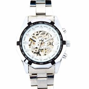 Reloj Winner Sport Watch Skeleton Automático Metalico Blanco