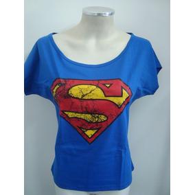 Blusinha Feminina Gola Canoa Superman Super Homem Clark