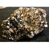 Mineral Roca Cristal Pirita Sulfuro Hierro Oro Falso 10 Cm