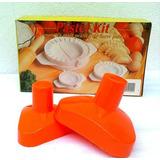Kit Fabrica Forma Fazer Esfirras Risolis Pastel Salgadinhos