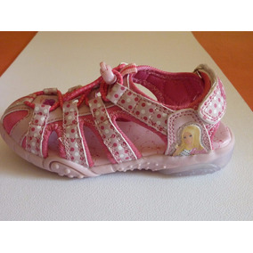 Sandalias Zapatillas Barbie Con Luces Footy Originales