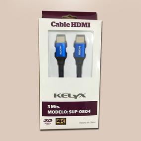 Cable Hdmi A Hdmi Kelyx 3 Mts Mts Sup-0804 3d-4k - Azul