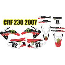 Kit Adesivo Grafico Trilha Moto Crf 230 Varios Mod Tun Honda