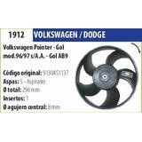 Paleta De Ventilador Vw Pointer-gol Mod. 96/97 S/a.a Gol Ab9