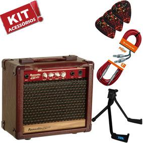 Kit Cubo Amplificador Violão Acoustic V10 Meteoro Acessórios