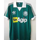 Camisa Palmeiras Gola Pólo Agip Anos 80