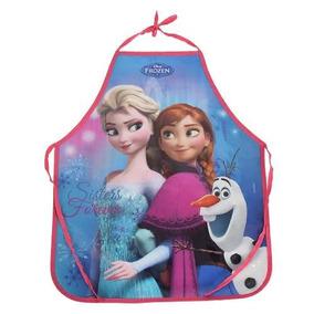 Avental Infantil Escolar Frozen Em Pvc Promoção Frozen
